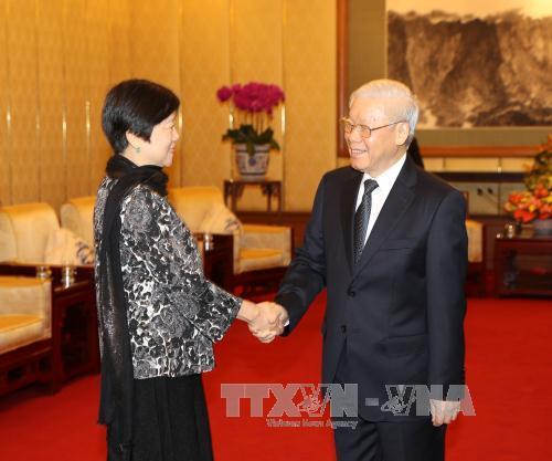 Tổng Bí thư tiếp đoàn đại biểu Hội Hữu nghị Đối ngoại Nhân dân Trung Quốc - Ảnh 1