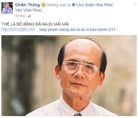Nghệ sĩ Việt bàng hoàng trước sự ra đi của NSƯT Phạm Bằng - Ảnh 9