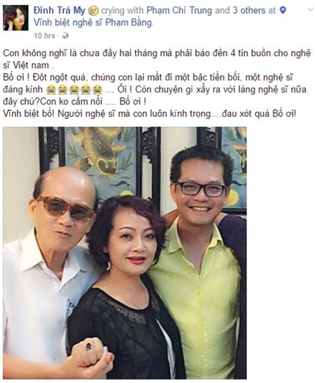 Nghệ sĩ Việt bàng hoàng trước sự ra đi của NSƯT Phạm Bằng - Ảnh 5
