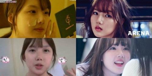 """Khuôn mặt """"một trời một vực"""" trước và sau trang điểm của nữ idol Kpop - Ảnh 11"""