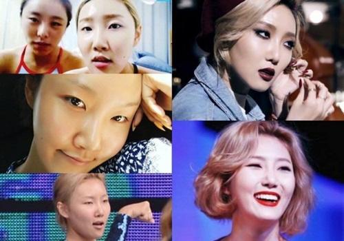 """Khuôn mặt """"một trời một vực"""" trước và sau trang điểm của nữ idol Kpop - Ảnh 1"""