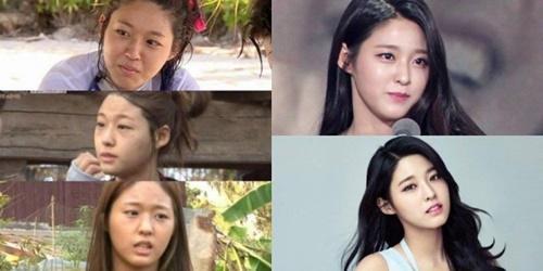 """Khuôn mặt """"một trời một vực"""" trước và sau trang điểm của nữ idol Kpop - Ảnh 3"""