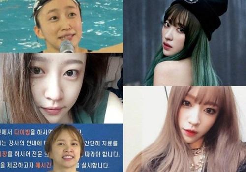 """Khuôn mặt """"một trời một vực"""" trước và sau trang điểm của nữ idol Kpop - Ảnh 4"""