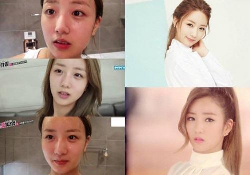 """Khuôn mặt """"một trời một vực"""" trước và sau trang điểm của nữ idol Kpop - Ảnh 7"""