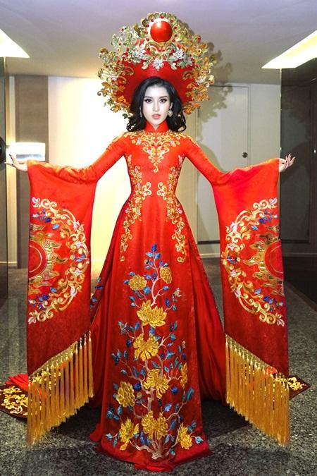 Hé lộ trang phục dân tộc của Huyền My tại Miss Grand International 2017 - Ảnh 1