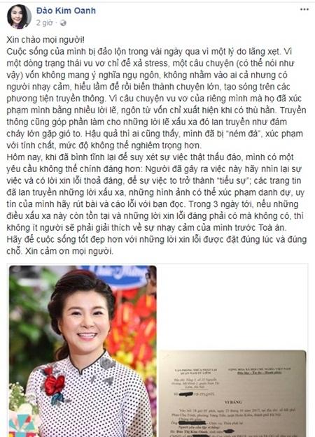 NSƯT Kim Oanh sẽ đâm đơn kiện vợ Xuân Bắc nếu không được xin lỗi? - Ảnh 3