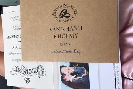 Hé lộ thiệp cưới chính thức của Khởi My - Kelvin Khánh - Ảnh 3