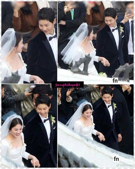 """Đám cưới Song Hye Kyo - Song Joong Ki: Cô dâu chú rể ngọt ngào """"khóa môi"""" - Ảnh 9"""