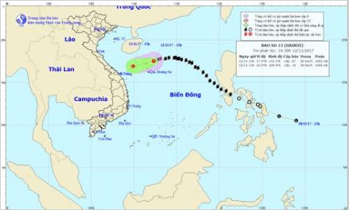 Bão số 13 đã suy yếu thành áp thấp nhiệt đới - Ảnh 1