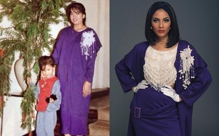 Trương Thị May bất ngờ diện lại trang phục của mẹ cách đây 30 năm - Ảnh 1