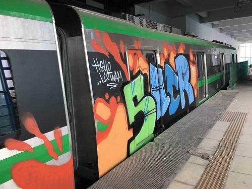 """Điều tra vụ đoàn tàu đường sắt trên cao Cát Linh - Hà Đông bị """"bôi bẩn"""" - Ảnh 1"""