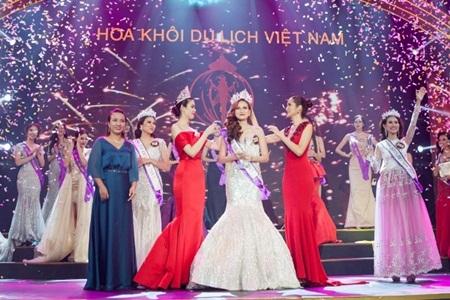 Khánh Ngân The Face đăng quang Hoa khôi Du lịch Việt Nam 2017 - Ảnh 1