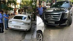 Hà Nội: Phát hiện vũ khí nóng trên siêu xe 15 tỷ nghi đeo biển số giả - Ảnh 1