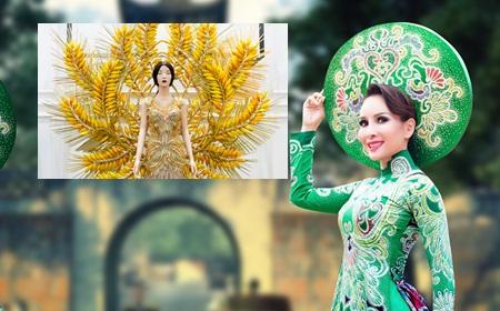 Cận cảnh quốc phục của Hoa hậu Trâm Lưu tại Mrs Universel 2017 - Ảnh 1