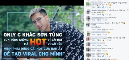 """Only C: Sơn Tùng M-TP """"hot"""" không phải vì bài hát mà chỉ vì cái tên - Ảnh 2"""
