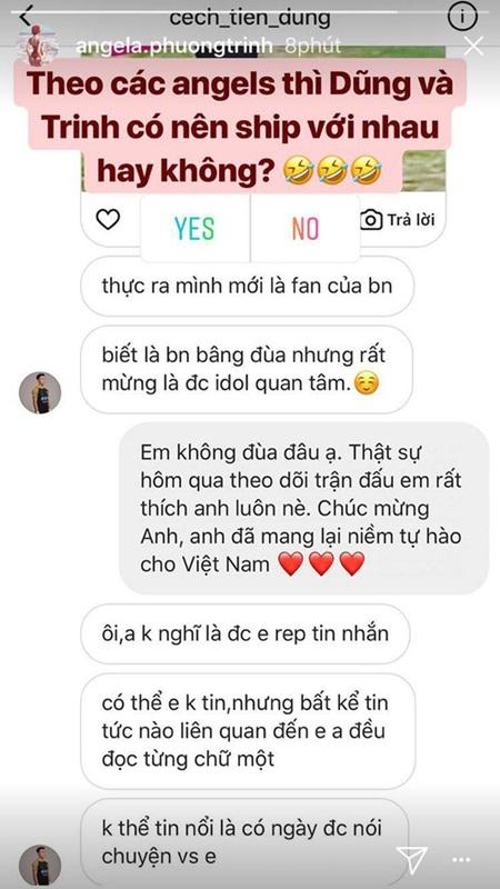 """Bùi Tiến Dũng nhận là fan Angela Phương Trinh, """"thả thính"""" hoa hậu Mỹ Linh - Ảnh 3"""
