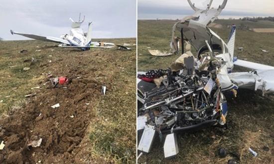 Máy bay rơi vì phi công lên cơn đau tim, 4 người thiệt mạng - Ảnh 1