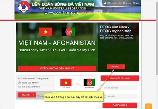 Cách mua vé online trận bán kết AFF Cup 2018 Việt Nam vs Philippines - Ảnh 2