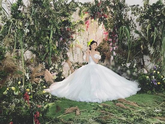 Cận cảnh váy cưới đính 10.000 viên pha lê của Á hậu Thanh Tú - Ảnh 3