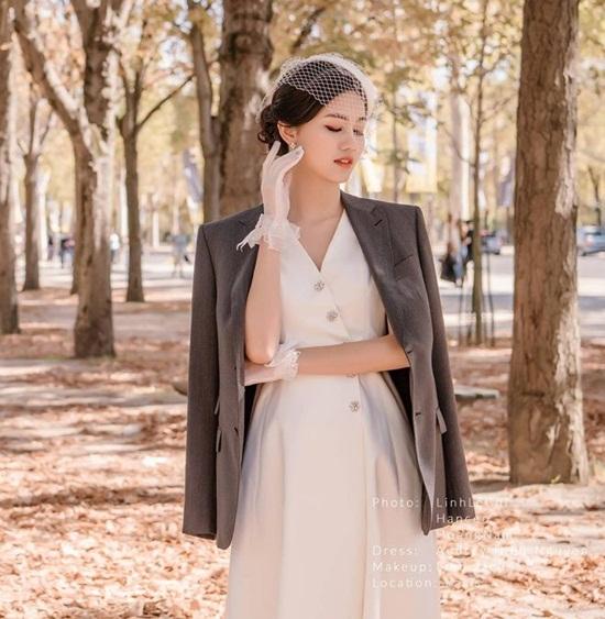 Cận cảnh váy cưới đính 10.000 viên pha lê của Á hậu Thanh Tú - Ảnh 8