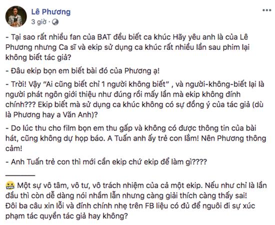 """Nhạc sĩ không chấp nhận lời xin lỗi của Bùi Anh Tuấn khi """"hát nhạc chùa"""" - Ảnh 3"""