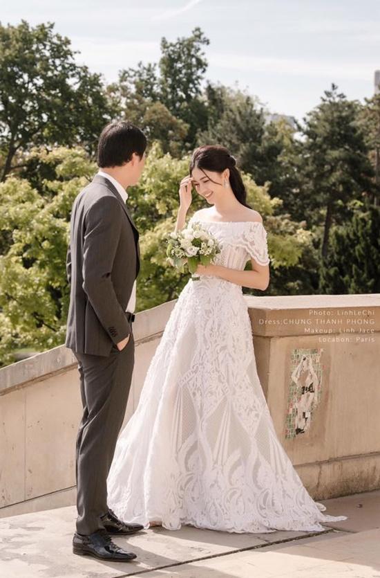 Á hậu Thanh Tú đẹp như công chúa trong bộ ảnh cưới giữa Paris hoa lệ - Ảnh 1