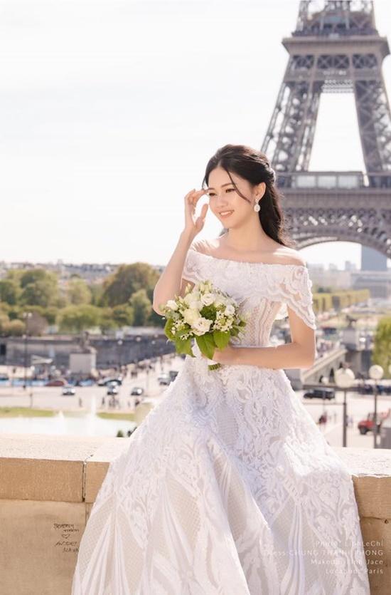 Á hậu Thanh Tú đẹp như công chúa trong bộ ảnh cưới giữa Paris hoa lệ - Ảnh 3