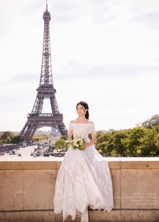 Á hậu Thanh Tú đẹp như công chúa trong bộ ảnh cưới giữa Paris hoa lệ - Ảnh 4