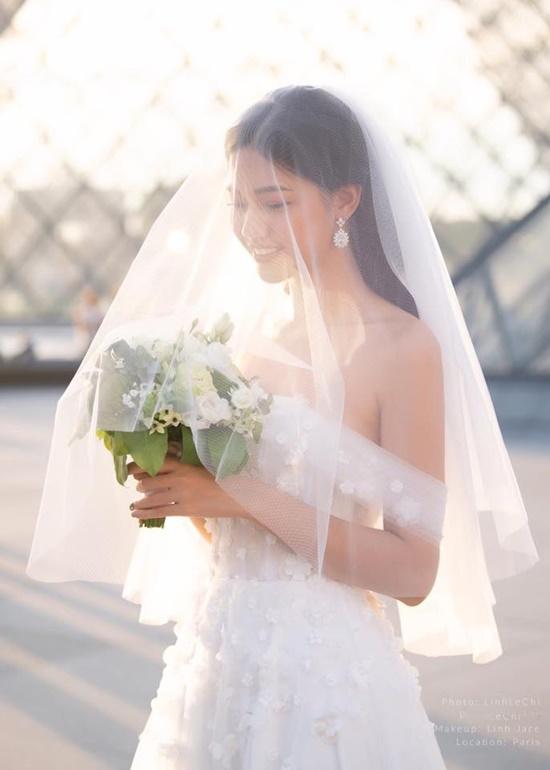 Á hậu Thanh Tú đẹp như công chúa trong bộ ảnh cưới giữa Paris hoa lệ - Ảnh 8