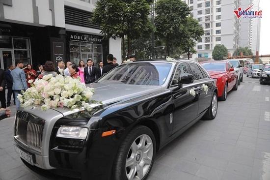 """Dàn siêu xe """"gây choáng"""" trong lễ rước dâu của Á hậu Thanh Tú - Ảnh 2"""