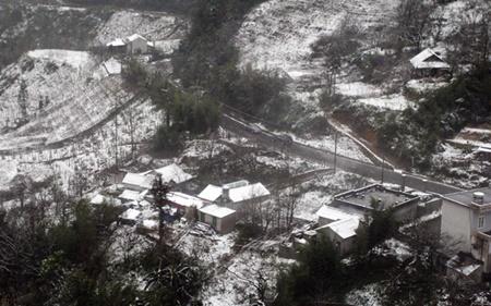 Nhiệt độ giảm sâu, tuyết lại phủ trắng đèo Ô Quý Hồ, Sa Pa - Ảnh 5
