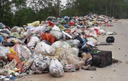 Hà Tĩnh: Kinh hoàng bãi rác bốc mù hôi thối, ruồi nhặng bay đầy nhà dân - Ảnh 1