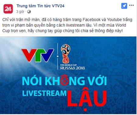 """Livestream """"lậu"""" World Cup 2018 ở Việt Nam diễn ra """"nhan nhản"""" ngay từ trận mở màn - Ảnh 1"""
