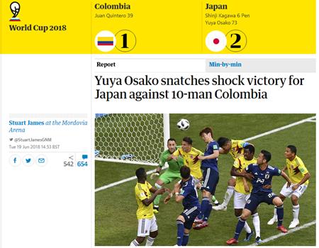 """World Cup 2018: Truyền thông quốc tế """"choáng váng"""" vì chiến thắng của Nhật Bản - Ảnh 2"""