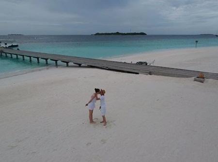 Cường Đô la và Đàm Thu Trang chụp ảnh cưới ở Maldives? - Ảnh 1