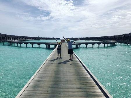 Cường Đô la và Đàm Thu Trang chụp ảnh cưới ở Maldives? - Ảnh 4