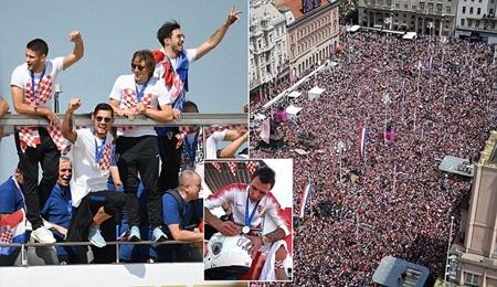 Thua trận, ĐT Croatia vẫn được chào đón như người hùng tại quê nhà - Ảnh 3