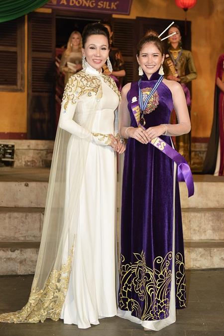 Dàn thí sinh Hoa hậu đại sứ du lịch Thế giới 2018 duyên dáng trong tà áo dài Việt - Ảnh 4