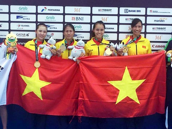 4 nữ VĐV Rowing bật khóc khi giành HCV đầu tiên cho Việt Nam tại ASIAD 18 - Ảnh 1