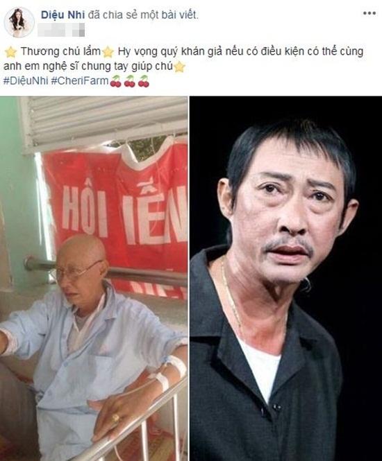 Sao Việt chung tay kêu gọi hỗ trợ nghệ sĩ Lê Bình điều trị ung thư phổi - Ảnh 3