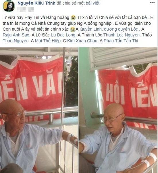 Sao Việt chung tay kêu gọi hỗ trợ nghệ sĩ Lê Bình điều trị ung thư phổi - Ảnh 4