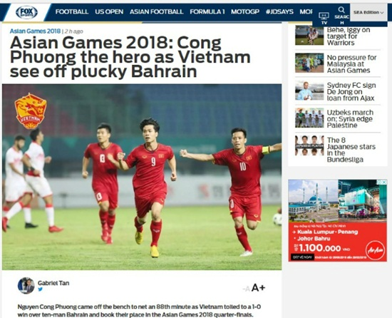Truyền thông quốc tế nói gì về kỳ tích lần đầu vào tứ kết ASIAD của Olympic Việt Nam? - Ảnh 2