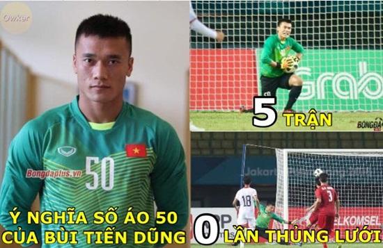 """Ảnh chế Olympic Việt Nam: """"Bức tường"""" Tiến Dũng và """"cầu thủ cao tuổi nhất"""" Văn Toàn - Ảnh 5"""