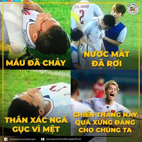 """Ảnh chế Olympic Việt Nam: """"Bức tường"""" Tiến Dũng và """"cầu thủ cao tuổi nhất"""" Văn Toàn - Ảnh 7"""