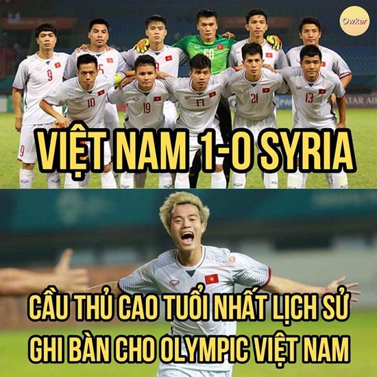 """Ảnh chế Olympic Việt Nam: """"Bức tường"""" Tiến Dũng và """"cầu thủ cao tuổi nhất"""" Văn Toàn - Ảnh 1"""