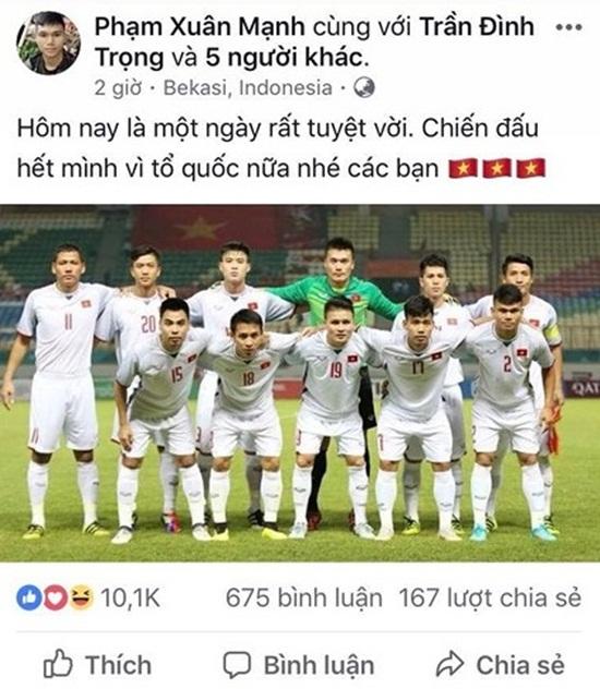 Dàn cầu thủ Olympic Việt Nam nói về chiến thắng lịch sử tại ASIAD - Ảnh 6