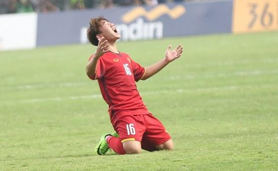 """Minh Vương nói về """"siêu phẩm"""" sút phạt ngay trong lần đầu ra sân tại ASIAD 18 - Ảnh 1"""