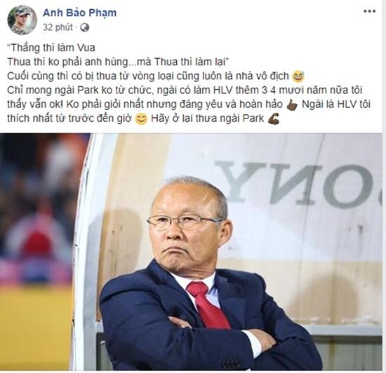 """Sao Việt động viên Olympic Việt Nam: """"Không khóc, các chàng trai!"""" - Ảnh 4"""