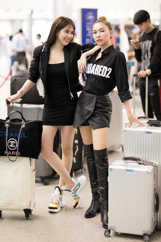 Ngọc Trinh diện váy bó sát khoe trọn đường cong tại sân bay - Ảnh 4