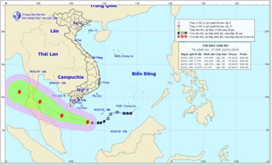 Bão số 1 tiến thẳng vào Cà Mau, Nam Bộ - Trung Bộ mưa lớn - Ảnh 1